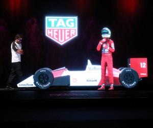 TAG Heuer ressuscite Ayrton Senna (hologramme) aux côtés de Fernando Alonso