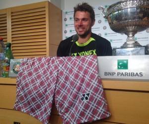 Le short Yonex à carreaux de Stan Wawrinka véritable star de Roland-Garros 2015 !