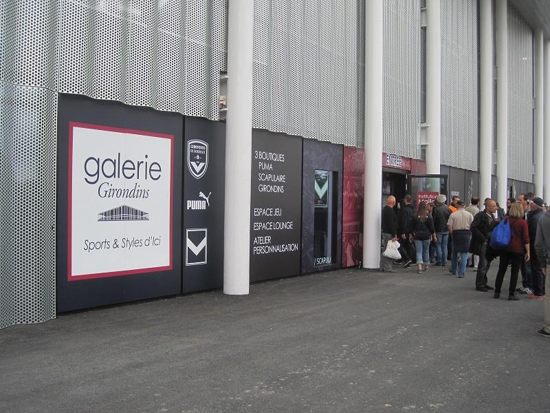 gallerie boutique PUMa nouveau stade bordeaux