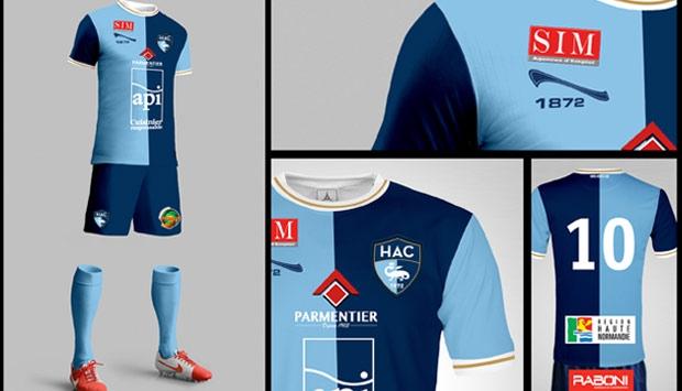 nouveau maillot HAC 2015 2016 1872