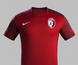 Le nouveau maillot domicile du LOSC 2015/2016 (Nike) présenté sans sponsor principal