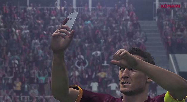 selfie totti PES 2016 Konami