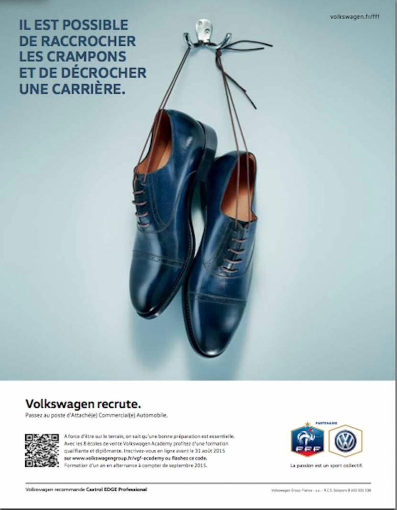 volkswagen recrute FFF football
