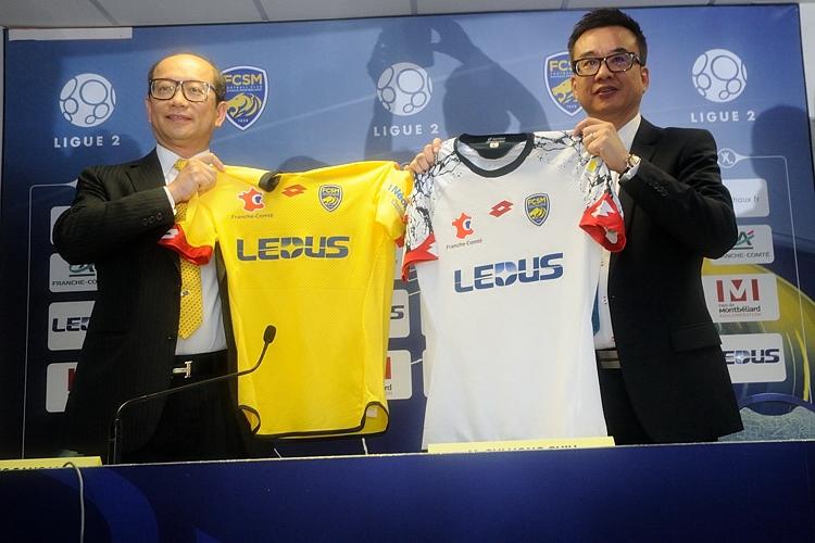FC sochaux montbéliard ledus sponsor maillot