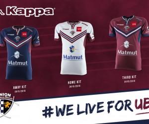 Kappa dévoile les maillots de l'Union Bordeaux Bègles pour la saison 2015/2016