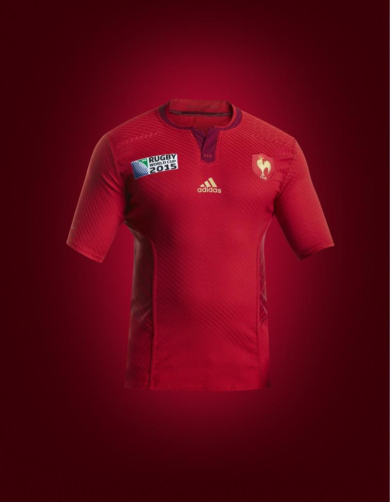 Nouveaux maillots adidas du xv de france pour la coupe du for Maillot exterieur xv de france