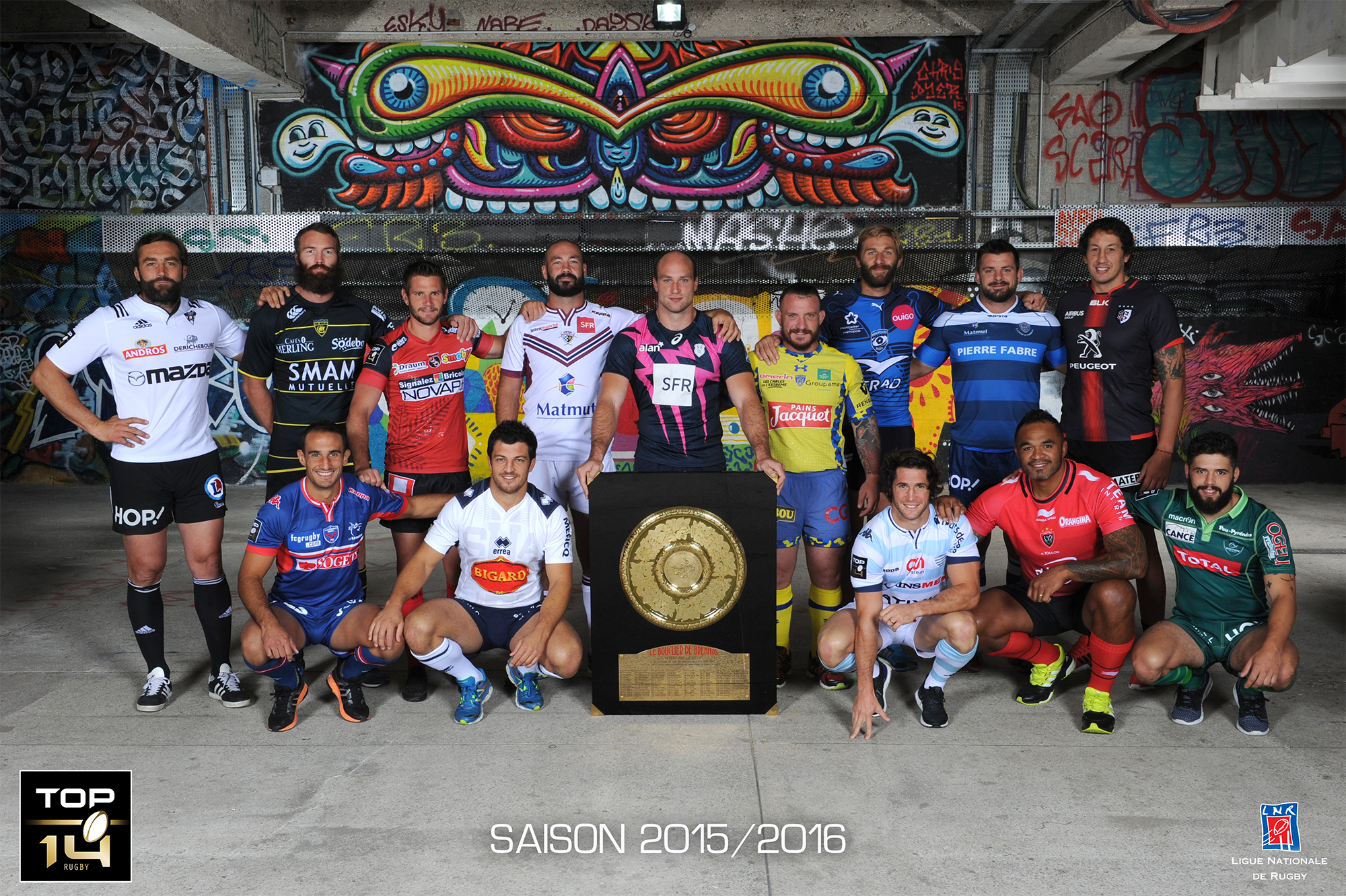 Photo officielle LNR Capitaines TOP 14