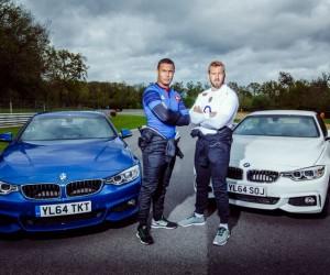 Rugby – Dusautoir et Robshaw lancent le 100ème «crunch» à 100km/h pour BMW