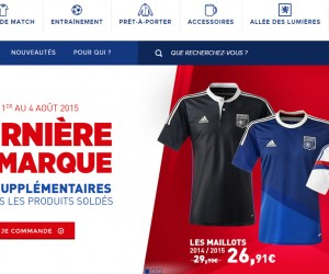 La boutique en ligne de l'Olympique Lyonnais fait peau neuve avec l'agence NewQuest