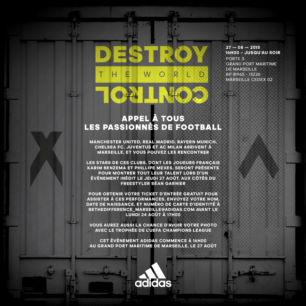 destroy the world adidas marseille
