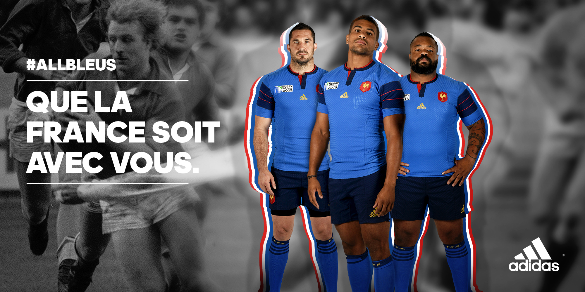 Nouveaux maillots adidas du xv de france pour la coupe du - Coupe de france rugby 2015 ...