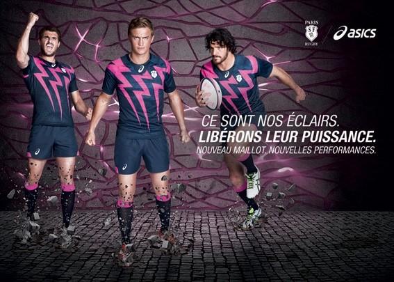 nouveaux maillots Stade Français Paris ASICS rugby 2015 2016 ce sont nos éclairs