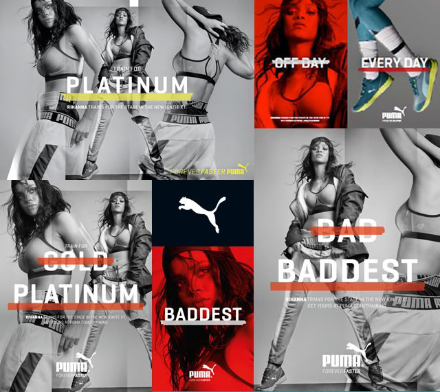rihanna Puma 2015 what are you training for baddest