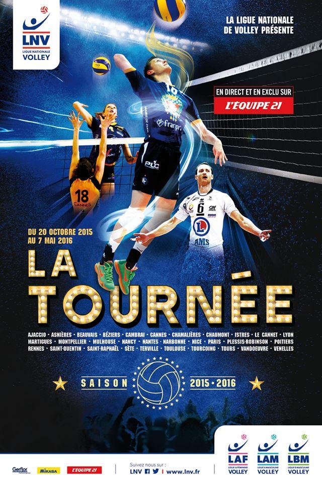 Ligue nationale de Volley la tournée