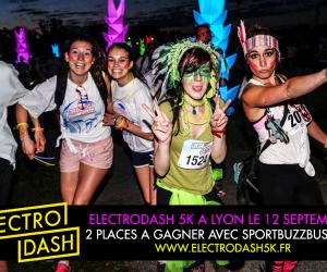 CONCOURS – 2 places pour ElectroDash 5k à Lyon (12 septembre) à gagner sur SBB