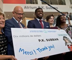 NHL – P.K. Subban fait un don de 10M$ à l'Hôpital de Montréal pour enfants