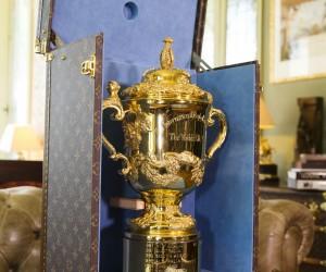 Une malle Louis Vuitton pour le Trophée de la Coupe du Monde de Rugby 2015