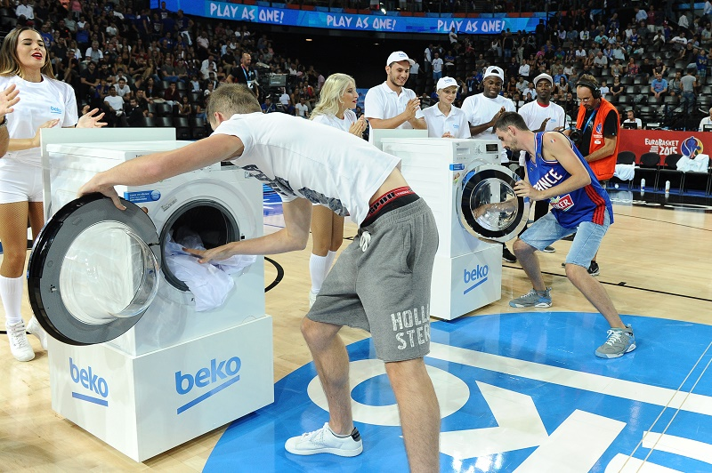 beko eurobasket jeu mi-temps machine à laver activation