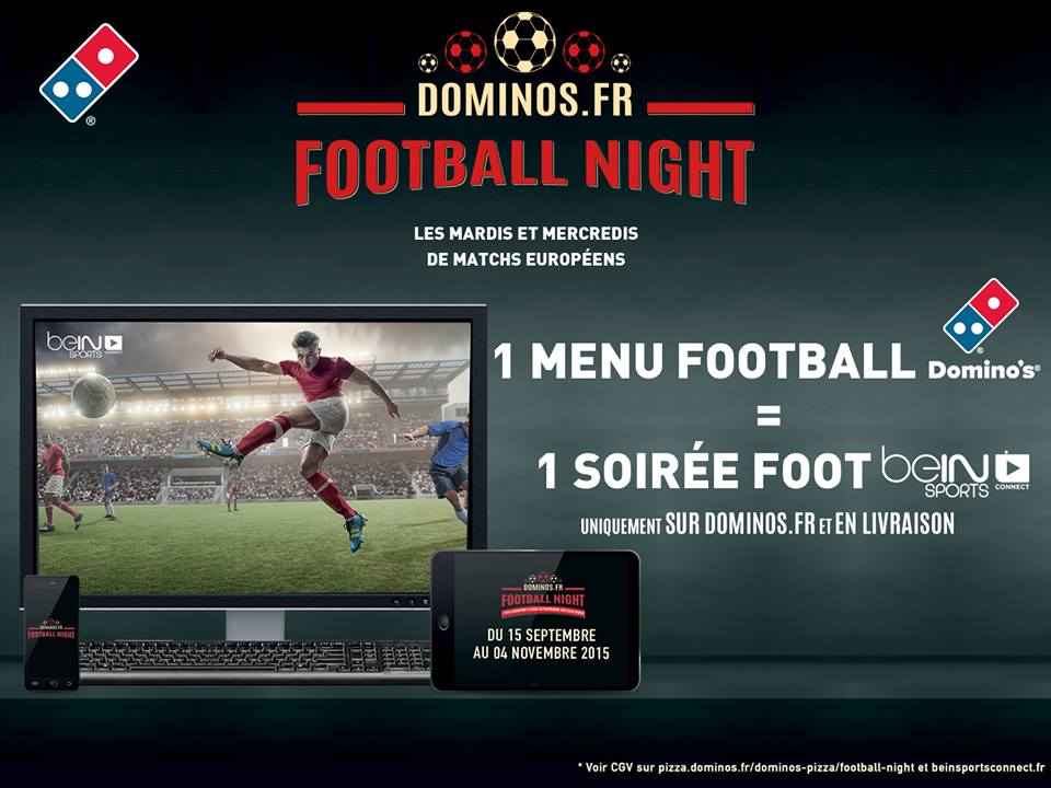 football night domino's pizza bein sports connect offert