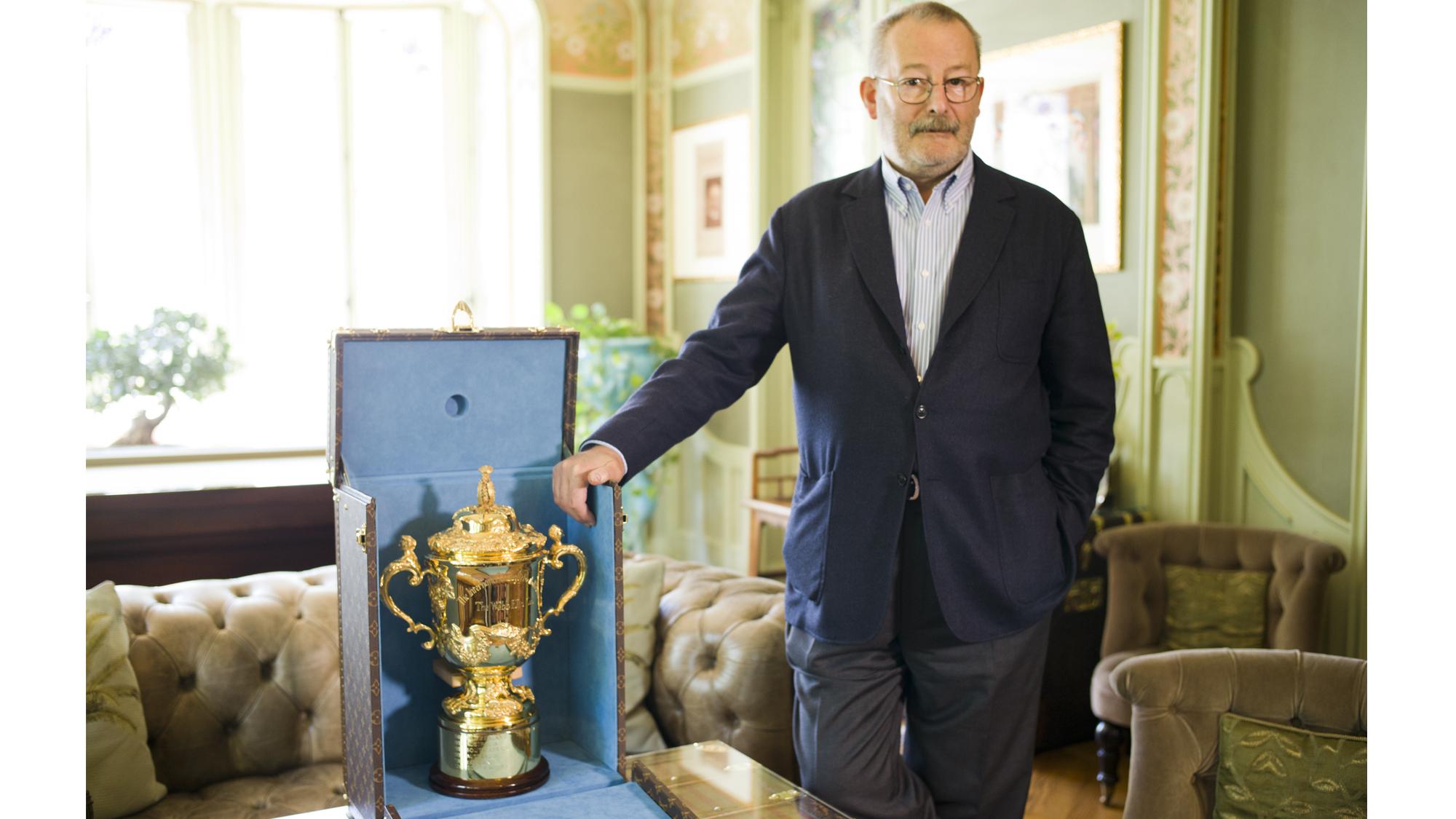 malle Louis Vuitton trophée coupe du monde de rugby 2015
