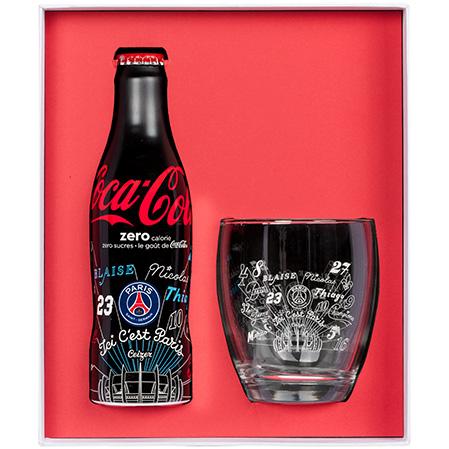 COFFRET PSG X COCA-COLA - CEIZER bouteille