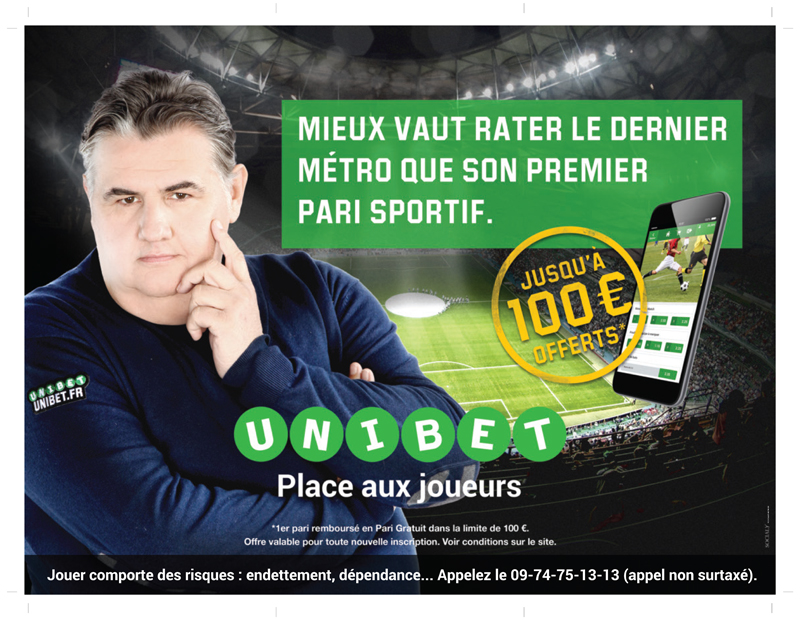 Pierre Ménès Unibet métro