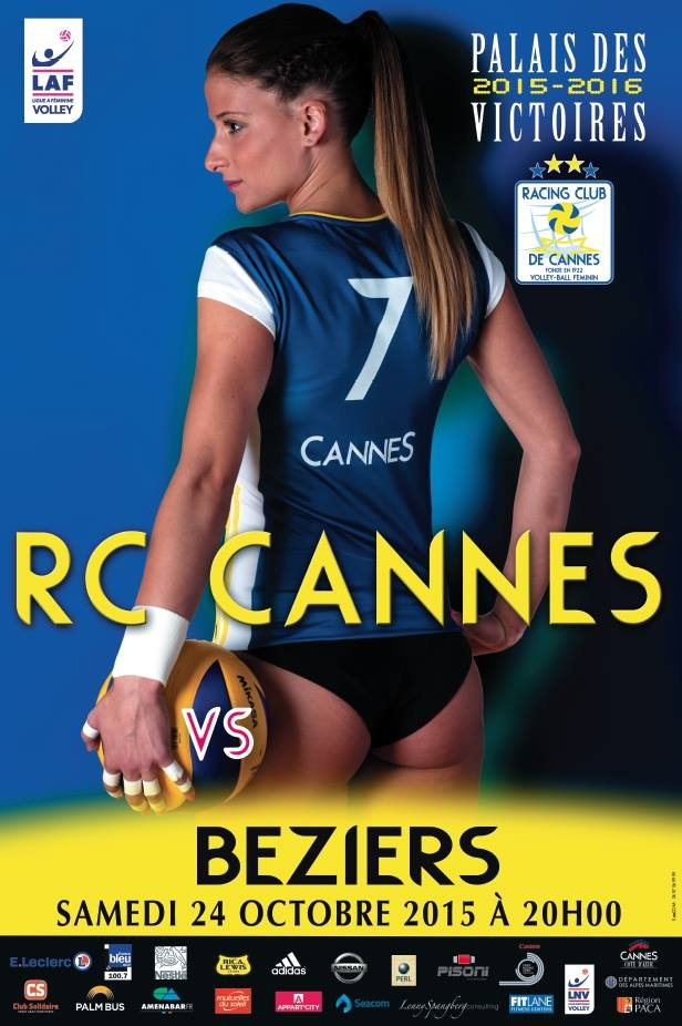 RC Cannes volley affiche sexy culotte