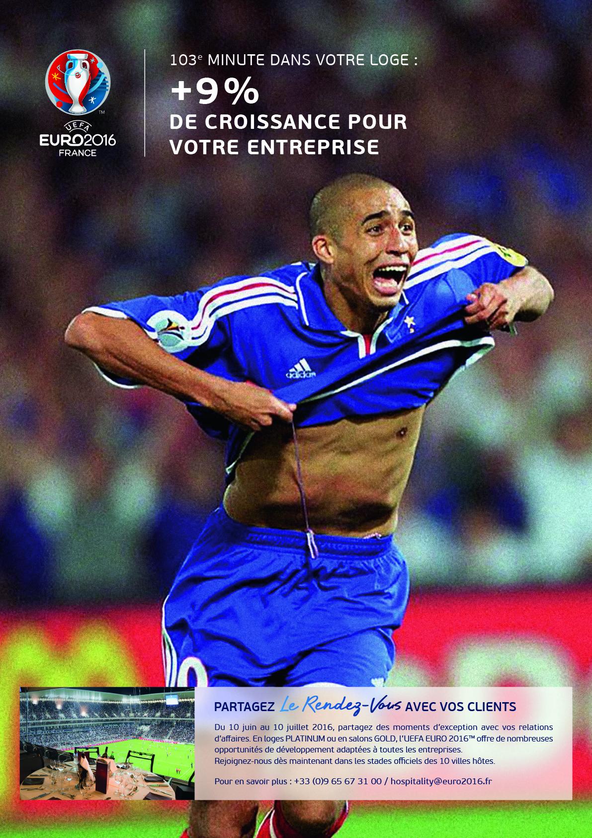 UEFA euro 2016 hospitalité pub trezeguet