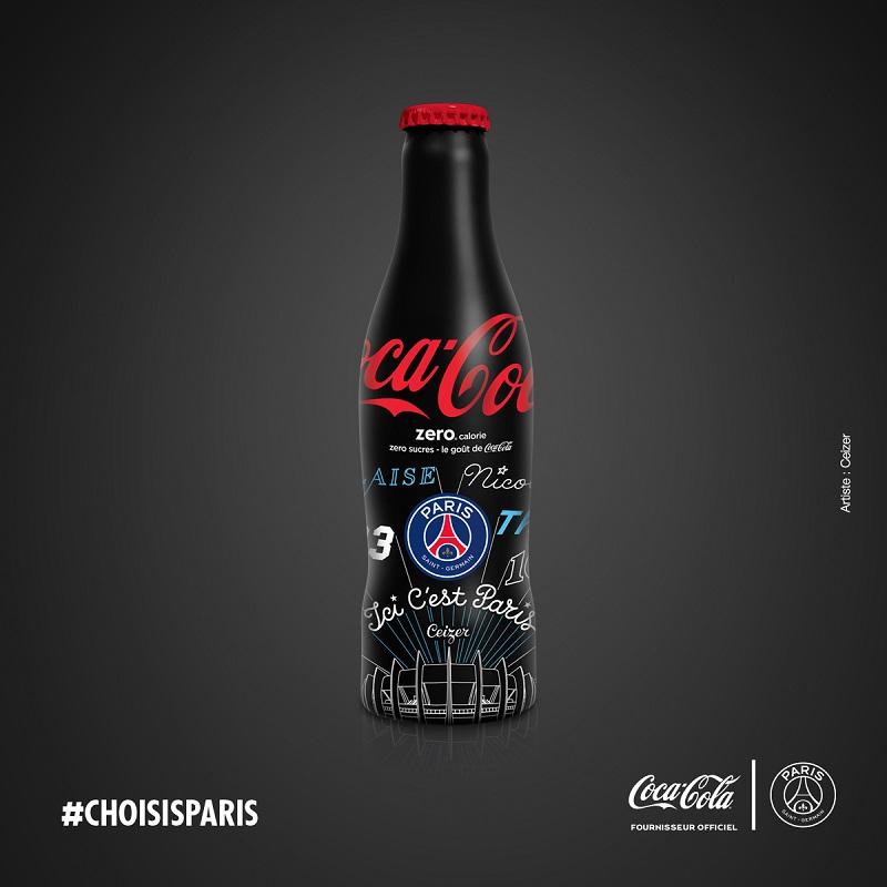 bouteille_noire coca-cola PSG