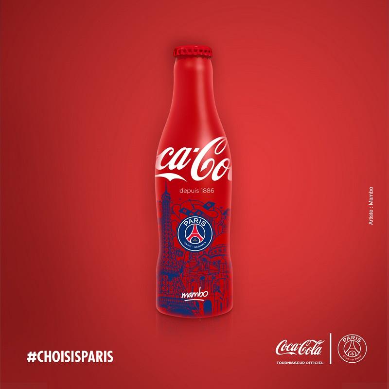 bouteille_rouge coca-cola PSG