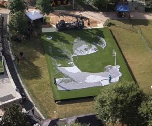 AT&T rend hommage à la saison de Jordan Spieth à l'aide de 24 152 balles de golf