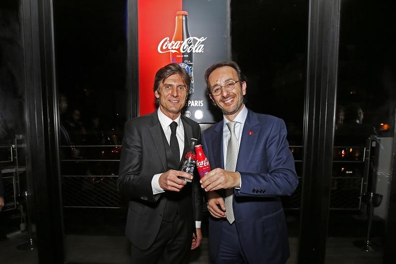 psg coca-cola bouteilles collector