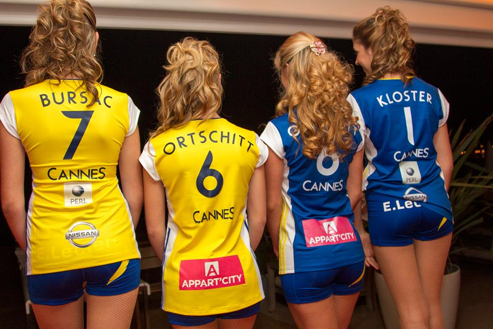 rc cannes volley nouveaux maillots sexy culotte 2015