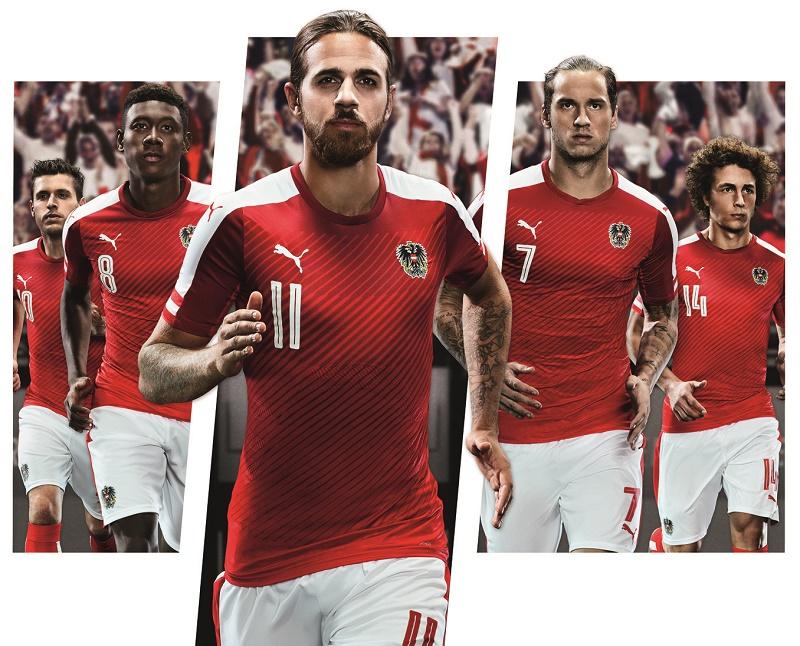 Nouveau maillot domicile Autriche - EURO 2016