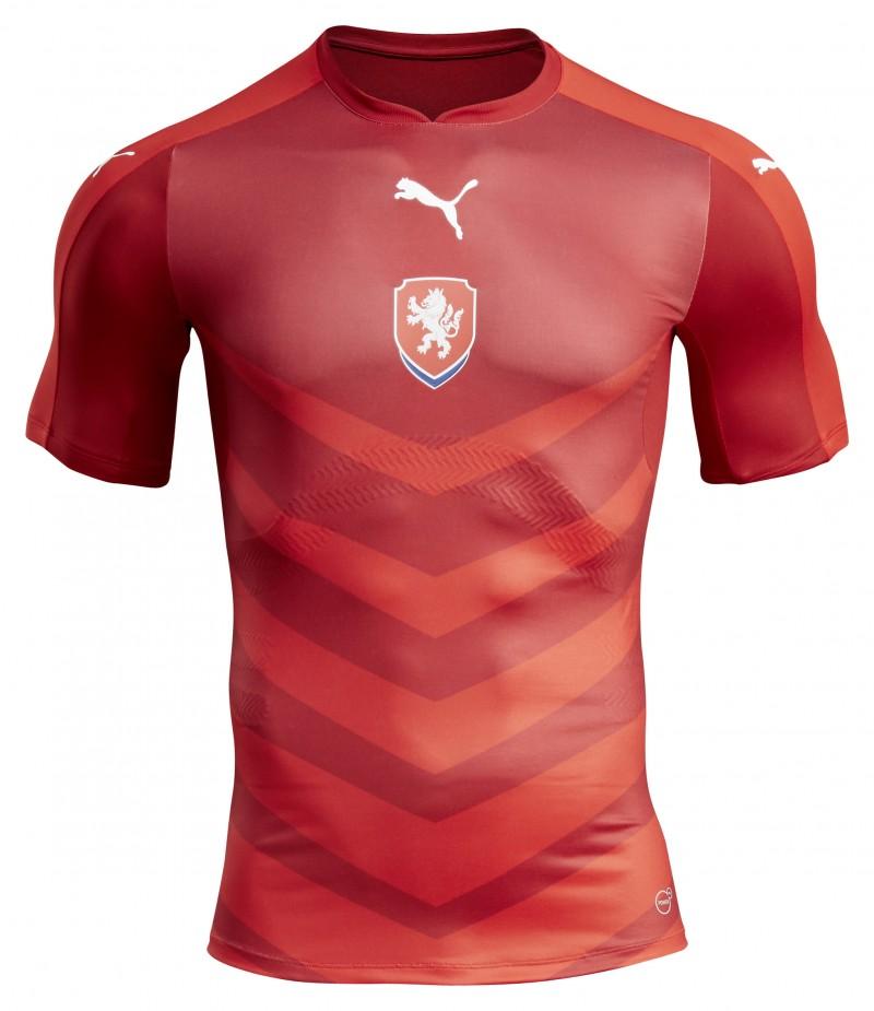 Nouveau maillot domicile République Tchèque - EURO 2016