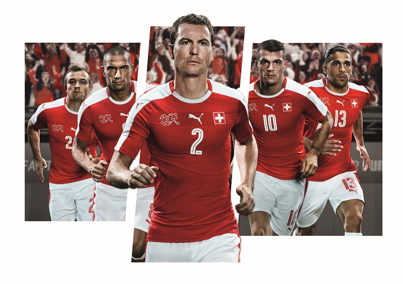 Nouveau maillot domicile Suisse - EURO 2016