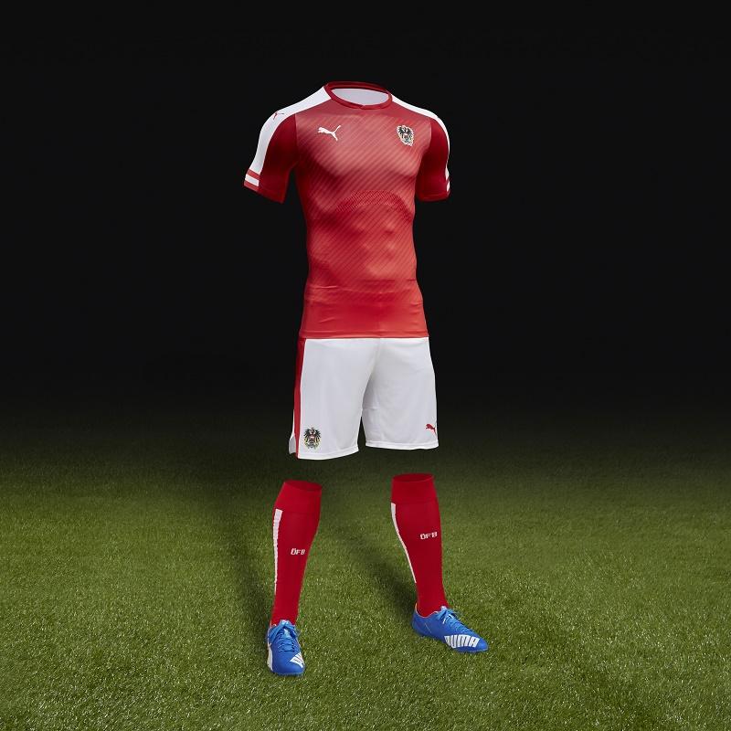 PUMA Austria Home Kit UEFA EURO 2016
