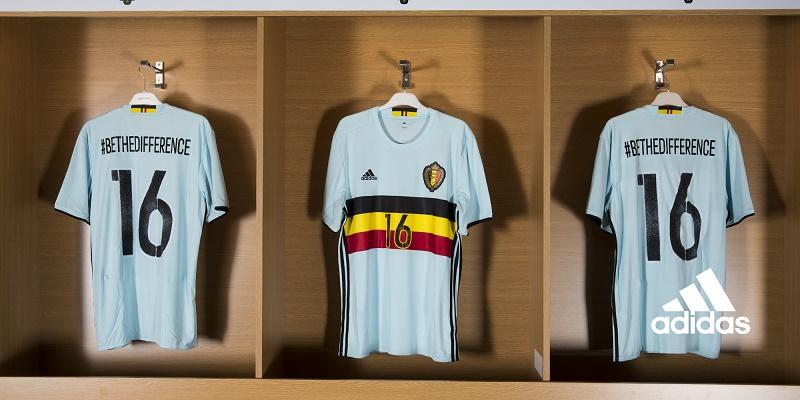 maillot extérieur belgique Euro 2016