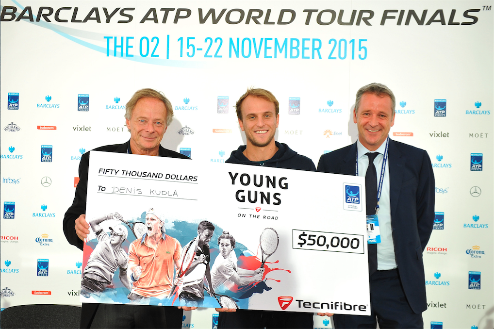 young guns on the road tecnifibre Denis Kudla