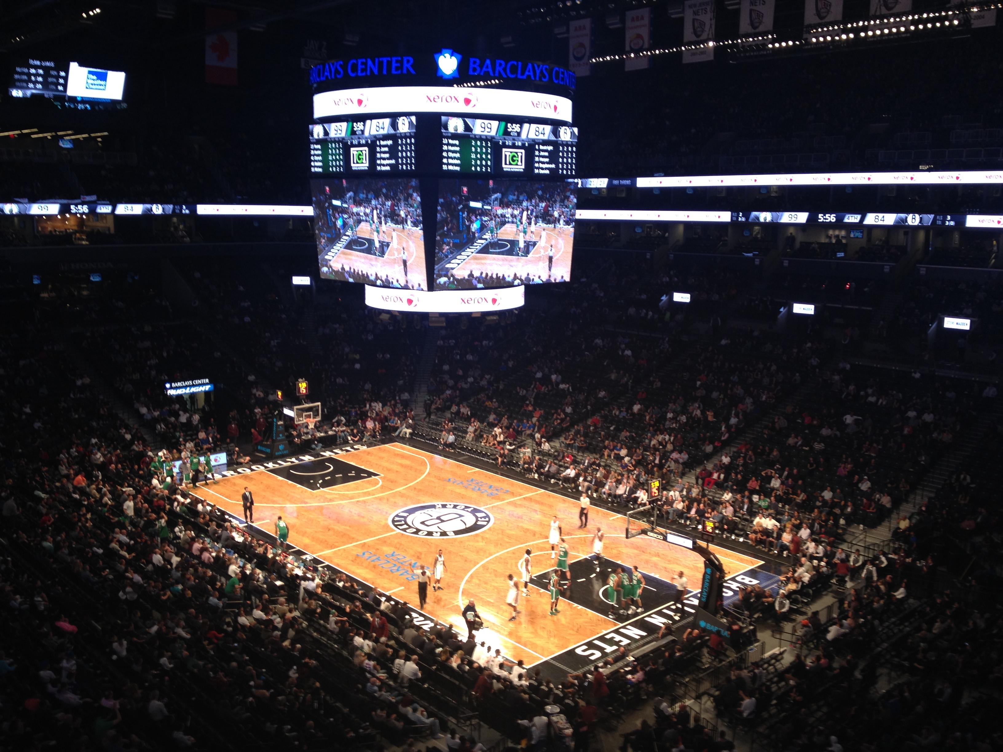 Barclays center experience NBA