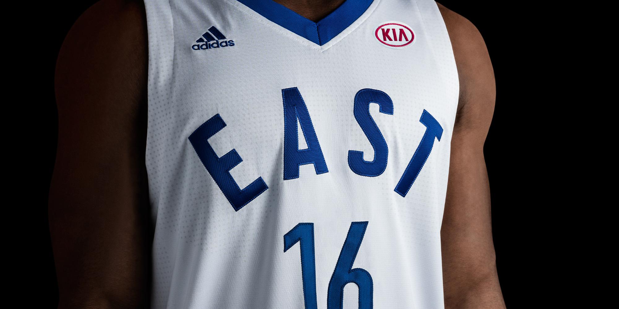Kia adidas NBA All Star game 2016 toronto East Jersey Kia sponsor