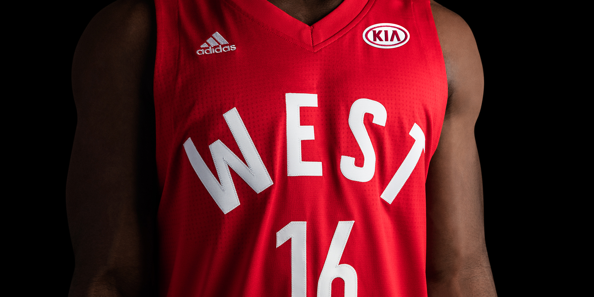 Kia sponsor adidas-NBA All-Star Game West Jersey 2016