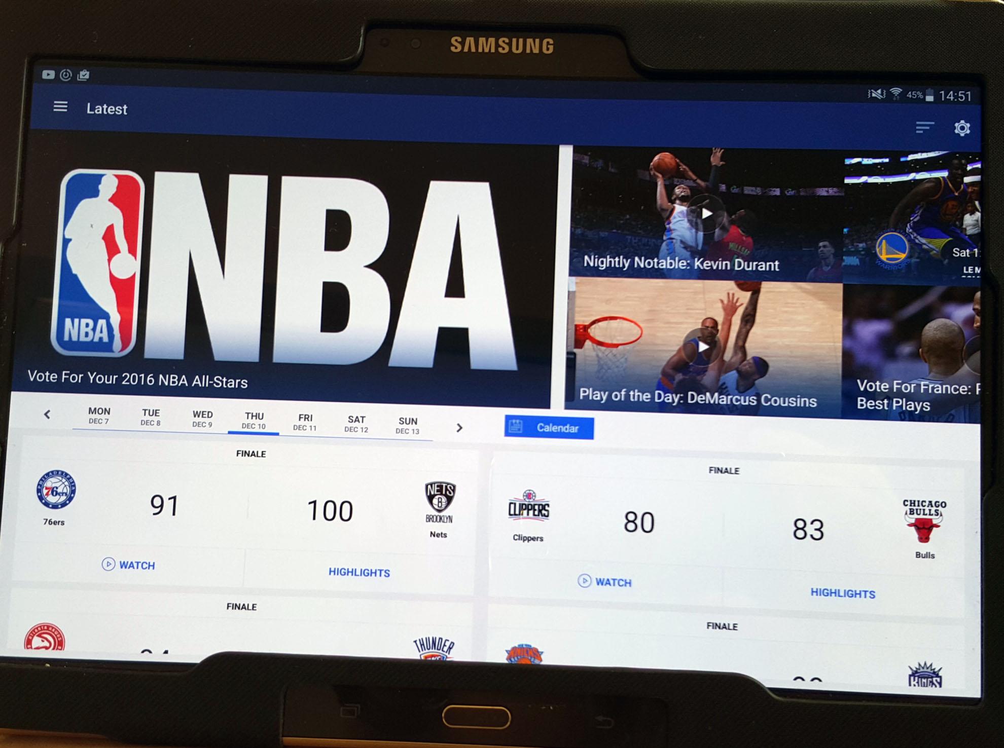 NBA LEAGUE PASS 2016