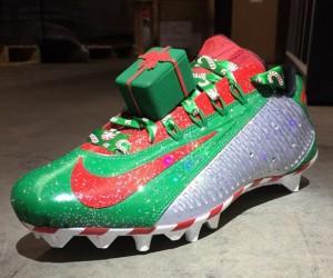 Une paire de Nike customisée «cadeaux de Noël» pour Odell Beckham Jr (NFL)