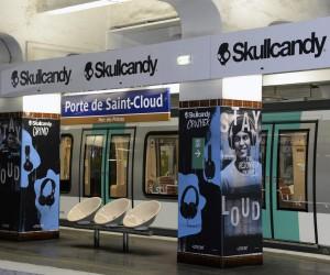 Skullcandy et Thiago Silva squattent la station de métro Porte de Saint-Cloud