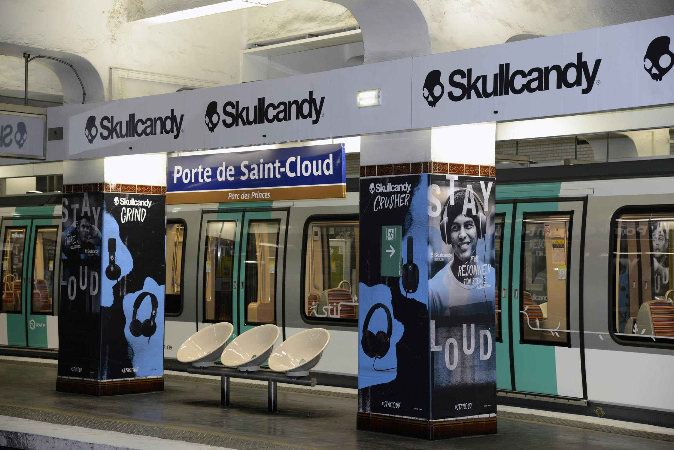 Skullcandy et thiago silva squattent la station de m tro porte de saint cloud - Salon des saveurs saint cloud ...