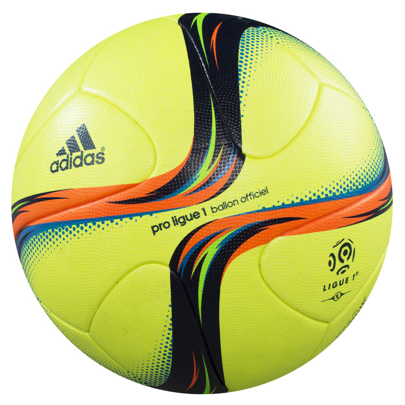 un ballon jaune fluo adidas pour la fin de la ligue 1 en 2016. Black Bedroom Furniture Sets. Home Design Ideas