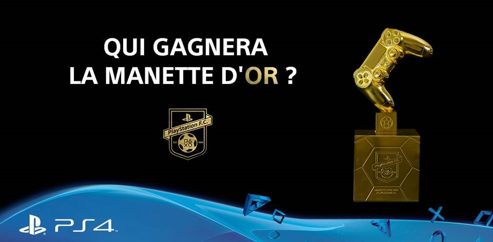 manette d'OR playstation fifa 16 PES 2016