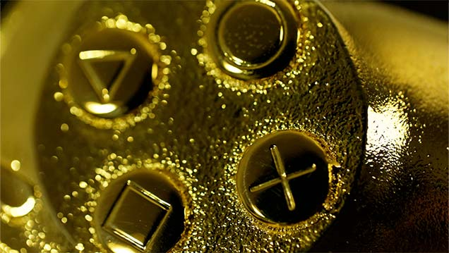 manette d'or playstation 4