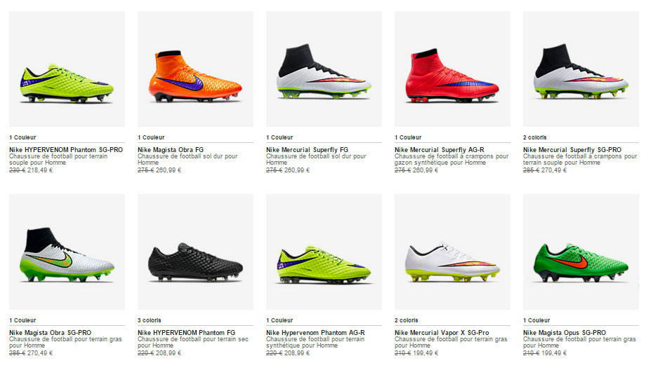 promotion nike store chaussures de football code promo